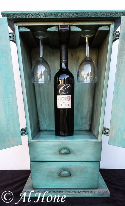 Raven wine cabinet , one of a kind wine cabinet