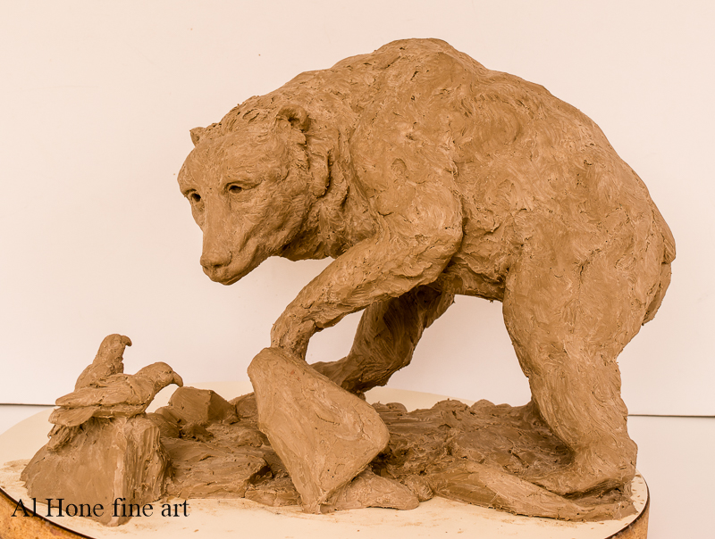 Al Hone Sculpture. Bear