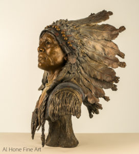 Al Hone Sculpture Native American