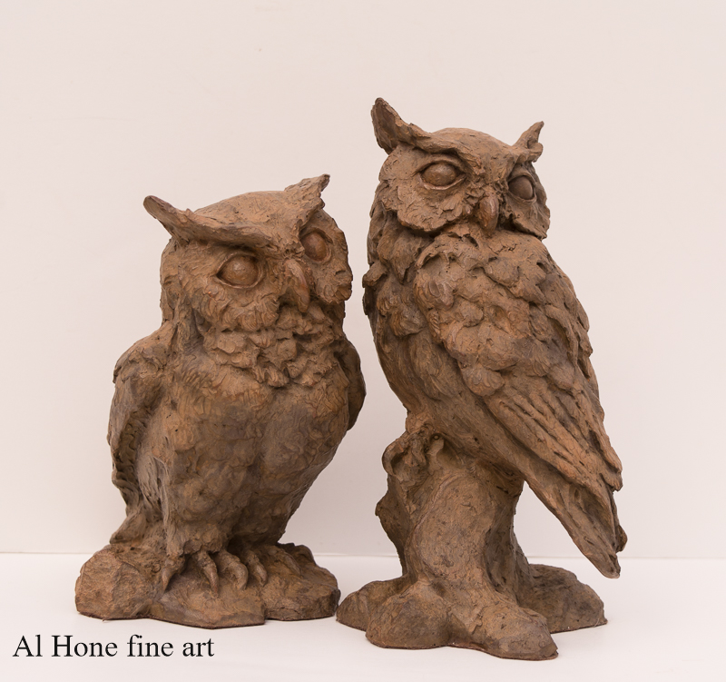 Al Hone Sculpture. Owls