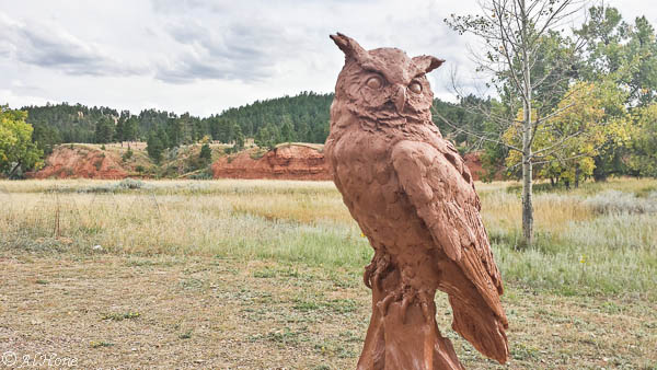 sculpture, hidden wisdom, owl, al hone